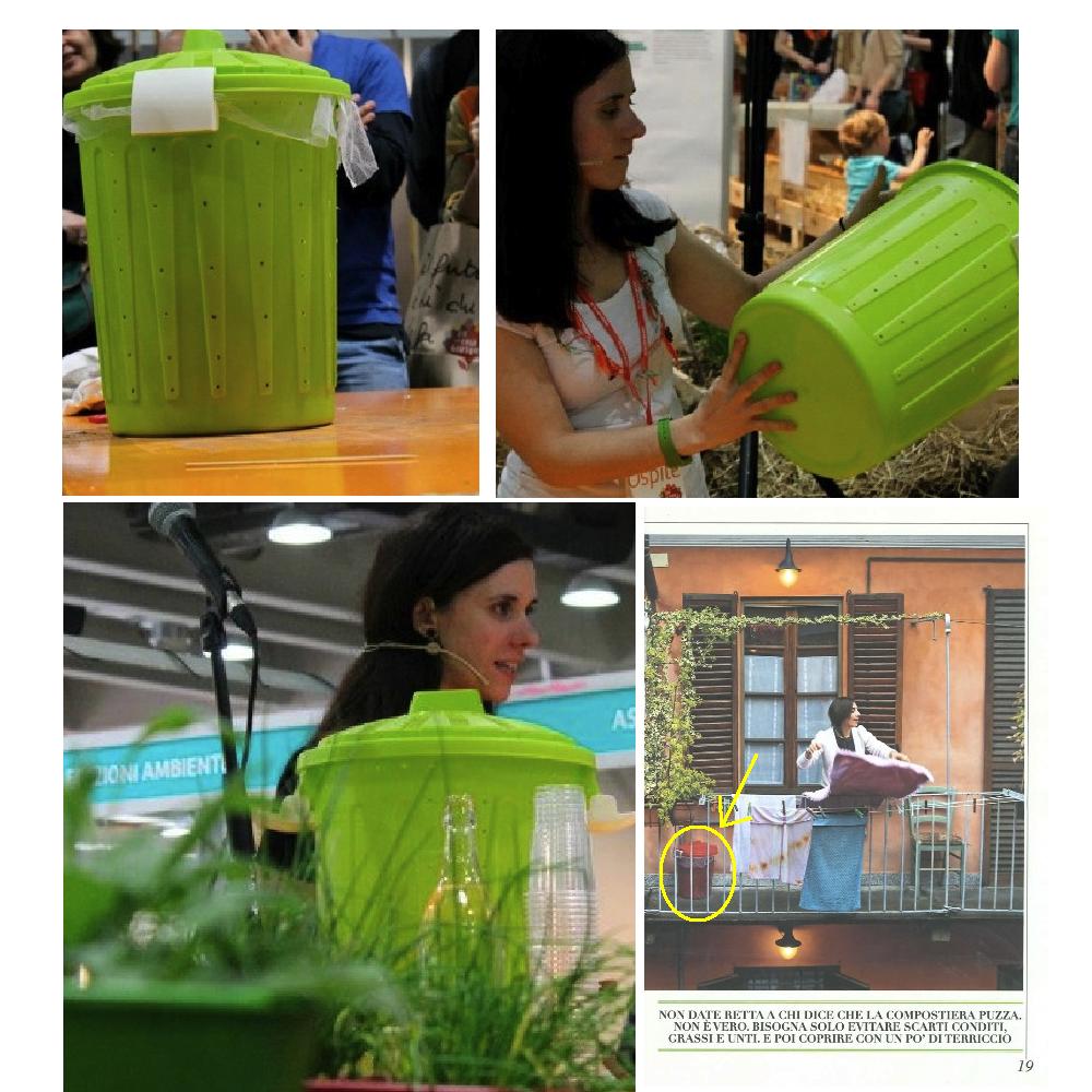 La mia compostiera autosufficiente da balcone fai da te for Costruire compostiera